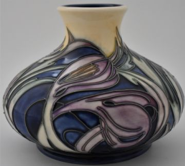 Moorcroft Pottery Saffron Crocus Thaxted Church Vase Limited Edition